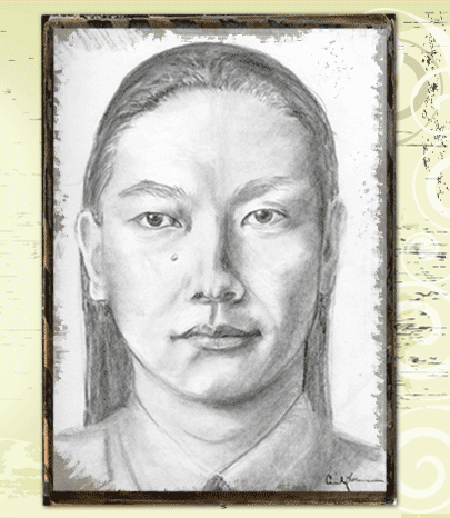 Asian charcoal sketch